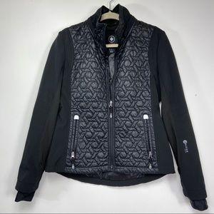 Halifax black quilted zip jacket. Size Medium